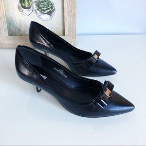 Shoes - Greenwich Village Leather Kitten Heels Shoes